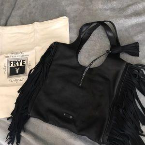 NEW WITH TAG Frye Farrah Fringe Bag -Black